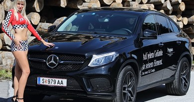 PS-Girl Michele mit dem Pappas Mercedes GLE Coupe