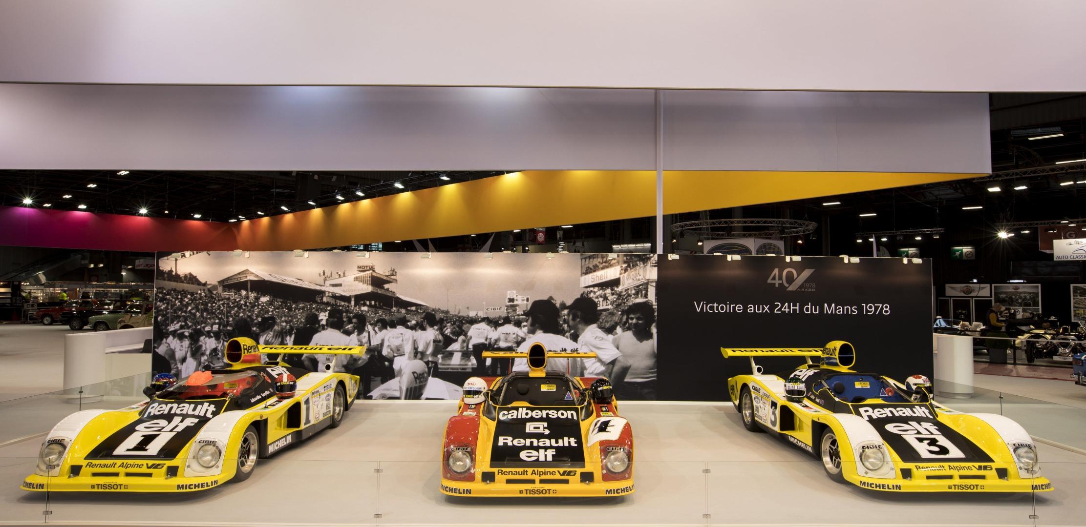 Alpine zeigt historischen Le-Mans-Sieger auf der Rétromobile